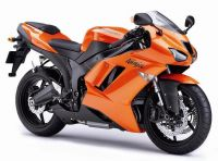Kawasaki ZX-6R 2007 - Orange Version - Dekorset