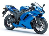Kawasaki ZX-6R 2008 - Blaue Version - Dekorset