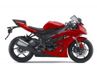 Kawasaki ZX-6R 2010 - Rote Version - Dekorset