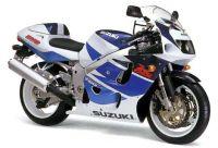 Suzuki GSX-R 750 1998 - Weiß/Blaue Version - Dekorset