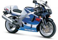 Suzuki GSX-R 750 1999 - Weiß/Blaue Version - Dekorset