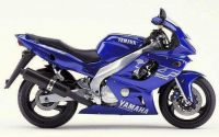 Yamaha YZF-600R 2001 - Blaue Version - Dekorset