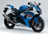 Suzuki GSX-R 1000 2012 - Weiß/Blaue Version - Dekorset