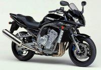 Yamaha FZS1000 Fazer 2001 - Schwarze Version - Dekorset