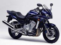 Yamaha FZS1000 Fazer 2003 - Dunkelblaue Version - Dekorset