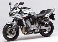 Yamaha FZS1000 Fazer 2004 - Silber Version - Dekorset