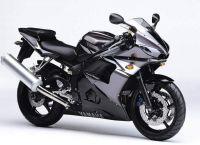 Yamaha YZF-R6 RJ09 2004 - Grau/Schwarze Version - Dekorset