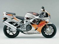 Honda CBR 900RR 1994 - Silber/Orange Version - Dekorset