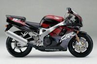 Honda CBR 900RR 1995 - Schwarz/Burgunder/Graue Version - Dekorset