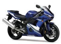 Yamaha YZF-R6 RJ095 2005 - Blaue Version - Dekorset