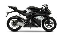 Yamaha YZF-R125 2009 - Schwarze Version - Dekorset