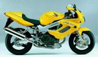 Honda VTR 1000F 2001 - Gelbe Version - Dekorset