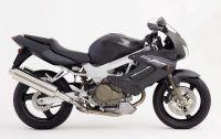 Honda VTR 1000F 2003 - Mattschwarze Version - Dekorset