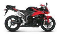 Honda CBR 600RR 2009 - Schwarz/Rote Version - Dekorset