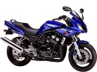 Yamaha FZS600 Fazer 2002 - Blaue Version - Dekorset