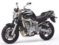 Yamaha FZ6 2004 - Schwarze Version - Dekorset