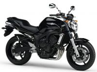 Yamaha FZ6 S2 2008 - Schwarze Version - Dekorset