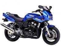 Yamaha FZS600 Fazer 2001 - Blaue Version - Dekorset