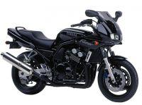 Yamaha FZS600 Fazer 1998 - Schwarze Version - Dekorset