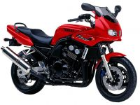Yamaha FZS600 Fazer 1998 - Rote Version - Dekorset