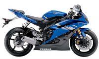 Yamaha YZF-R6 RJ11 2006 - Blaue US Version - Dekorset
