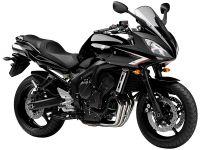 Yamaha FZ6 Fazer S2 2007 - Schwarze Version - Dekorset