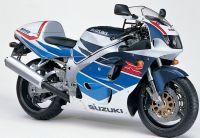 Suzuki GSX-R 750 1997 - Weiß/Blaue Version - Dekorset