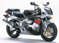 Suzuki GSX-R 750 1997 - Silber/Schwarze Version - Dekorset