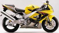 Honda CBR 929RR 2000 - Gelbe Version - Dekorset