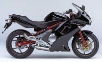 Kawasaki ER-6F 2008 - Schwarze Version - Dekorset
