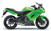 Kawasaki ER-6F 2006 - Grüne Version - Dekorset