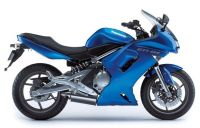 Kawasaki ER-6F 2007 - Blaue Version - Dekorset