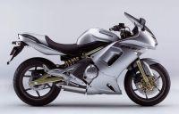 Kawasaki ER-6F 2007 - Silber Version - Dekorset