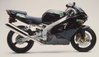 Kawasaki ZX-9R 2000 - Schwarze Version - Dekorset