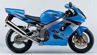 Kawasaki ZX-9R 2003 - Blau/Silber Version - Dekorset