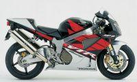 Honda VTR 1000 2005 - Schwarz/Rot/Silber Version - Dekorset