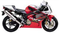 Honda RVT 1000R 2003 - Rot/Silber Version - Dekorset
