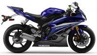 Yamaha YZF-R6 RJ11 2007 - Blaue Version - Dekorset