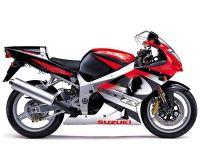 Suzuki GSX-R 1000 K1 2001 - Rot/Schwarz/Silber Version - Dekorset