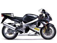 Suzuki GSX-R 1000 K1 2001 - Silber/Schwarze Version - Dekorset