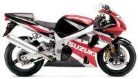 Suzuki GSX-R 1000 K2 2002 - Rot/Schwarz/Silber Version - Dekorset
