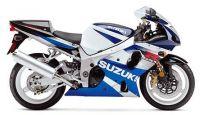 Suzuki GSX-R 1000 K2 2002 - Weiß/Blaue Version - Dekorset