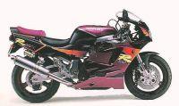 Suzuki GSX-R 750 1995 - Schwarz/Burgunder Version - Dekorset