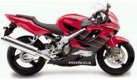 Honda CBR 600 F4 1999 - Rot/Schwarze Version - Dekorset