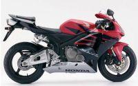 Honda CBR 600RR 2006 - Schwarz/Rot/Silber Version - Dekorset