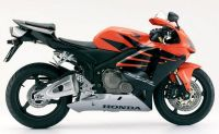 Honda CBR 600RR 2006 - Orange/Schwarze Version - Dekorset