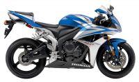 Honda CBR 600RR 2007 - Blau/Silber/Schwarze Version - Dekorset