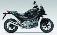 Honda NC700X 2012 - Schwarze Version - Dekorset