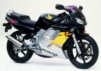 Honda NSR 125 1999 - Schwarz/Silber/Gelbe Version - Dekorset