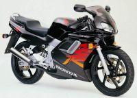 Honda NSR 125 2000 - Schwarz/Rote Version - Dekorset